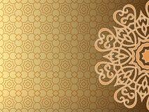 阿拉伯样式背景 向量例证
