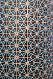 阿拉伯样式蓝色和褐色的几何样式马赛克垂直的照片铺磁砖了墙壁 库存图片