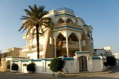 阿拉伯水平的房子日出 免版税库存照片