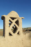 阿拉伯沙漠黏土房子 库存图片