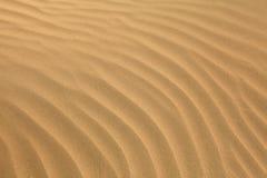 阿拉伯波纹沙子 免版税库存照片