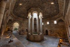 阿拉伯浴在希罗纳,卡塔龙尼亚,西班牙 免版税库存照片