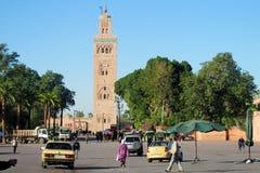 阿拉伯清真寺在Marakkesh,摩洛哥 免版税库存照片