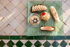 阿拉伯甜点分类 免版税库存照片
