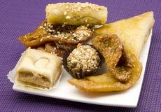 阿拉伯甜点 库存照片