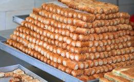 阿拉伯甜点 库存图片