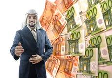 阿拉伯生意人如何知道! 库存照片