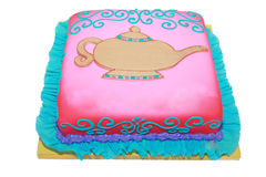 阿拉伯生日空白蛋糕主题 库存图片
