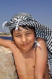 阿拉伯男孩 免版税库存图片