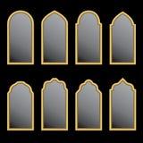 阿拉伯窗口形状 免版税库存图片