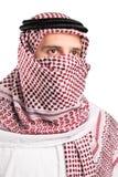 阿拉伯纵向头巾佩带的年轻人 库存图片