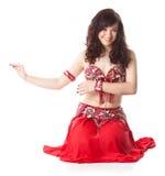 阿拉伯美丽的舞蹈跳舞妇女 库存照片
