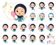 阿拉伯老women_beauty 免版税库存图片