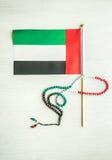 阿拉伯联合酋长国下垂和念珠 免版税库存照片