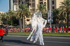 阿拉伯联合酋长国国庆节游行 免版税库存照片
