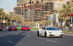 阿拉伯联合酋长国国庆节游行 免版税图库摄影