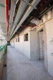 阿拉伯联合酋长国,迪拜, 06/07/2015,总督旅馆发展棕榈的建筑工地,迪拜 免版税库存照片