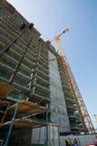 阿拉伯联合酋长国,迪拜, 06/07/2015,总督旅馆发展棕榈的建筑工地,迪拜 库存图片