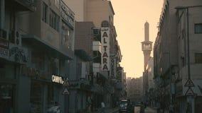 阿拉伯联合酋长国, 2017年1月:Al fahidi区迪拜 迪拜街道 影视素材