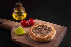 阿拉伯肉sfiha 免版税图库摄影
