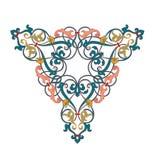 阿拉伯花卉无缝的边界 传统伊斯兰教的设计 清真寺装饰元素 o 库存例证