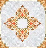阿拉伯花卉模式 免版税库存图片