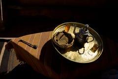 阿拉伯茶传统 库存照片