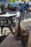 阿拉伯茶罐 库存图片