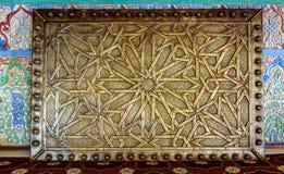 阿拉伯蔓藤花纹装饰 免版税库存照片