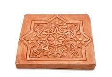 阿拉伯装饰,涂灰泥阿尔罕布拉宫样式 库存照片