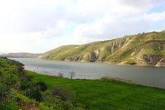 阿拉伯谷水坝 图库摄影