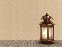 阿拉伯赖买丹月灯笼 库存例证