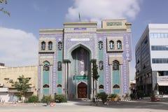 阿拉伯酋长管辖区团结了 伊朗清真寺, Bur迪拜 库存照片
