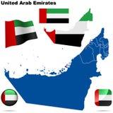 阿拉伯酋长管辖区设置了被团结 库存照片