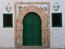 阿拉伯门摩洛哥样式 免版税库存照片