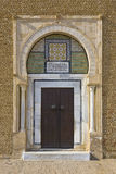 阿拉伯门装饰物 库存照片
