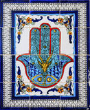 阿拉伯陶瓷装饰样式墙壁 库存照片