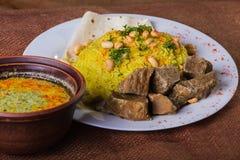 阿拉伯食物 免版税库存照片
