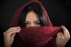 阿拉伯画象女孩 免版税库存照片