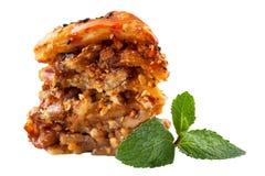 阿拉伯baklawa美丽的蛋糕甜点 免版税库存图片