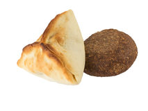 阿拉伯esfiha和kibbeh Manakish 免版税库存照片
