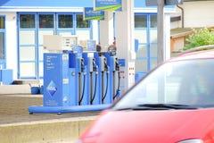 阿拉尔市气泵 免版税库存图片