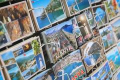 阿拉尼亚镇明信片在安塔利亚市,土耳其 免版税库存照片