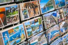 阿拉尼亚镇明信片在安塔利亚市,土耳其 库存照片