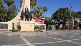 阿拉尼亚阿塔图尔克纪念碑 股票录像