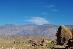 阿拉巴马小山岩石和视图,加利福尼亚 库存照片