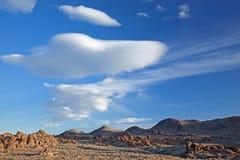 阿拉巴马覆盖双突透镜的小山 库存图片