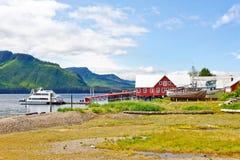 阿拉斯加冰冷的海峡点罐头工厂横向 免版税图库摄影