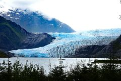 阿拉斯加冰川朱诺mendenhall 免版税库存照片