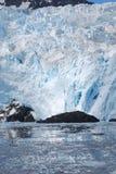 阿拉斯加冰川横向 库存照片